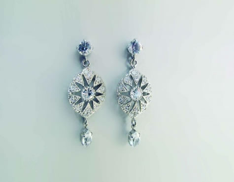 Charleston II Earrings - Bridal / Evening Wear - Couture Jewellery Collection from the Wedding Accessory Boutique