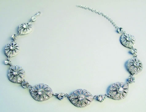 Charleston Necklace - Bridal / Evening Wear - Couture Jewellery Collection from the Wedding Accessory Boutique