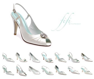 Bridal & Evening Shoes - Fifi Collection - Beautiful Shoes for the Bride on her Wedding Day - Shop online for quality accessories