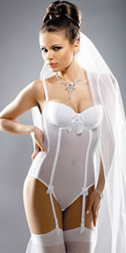 Naomi one pice with detachable garters - Wedding Lingerie from the Wedding Accessory Boutique