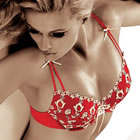 Parysa Red Bra - Beautiful lingerie for the Bride on her Wedding day and to look stunning on her honeymoon -  code:- Fife