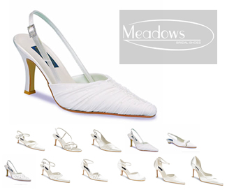 Meadows Bridal - Wedding & Evening Shoes including Caprice, Coral, Emma, Ferne, Gaby, Jayne, Lara, Marina, Robyn, Skye and Toni